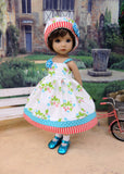 Chinese Lantern - dress, hat, socks & shoes for Little Darling Doll or 33cm BJD