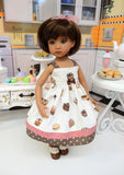 Chocolate Delights - dress, socks & shoes for Little Darling Doll or 33cm BJD