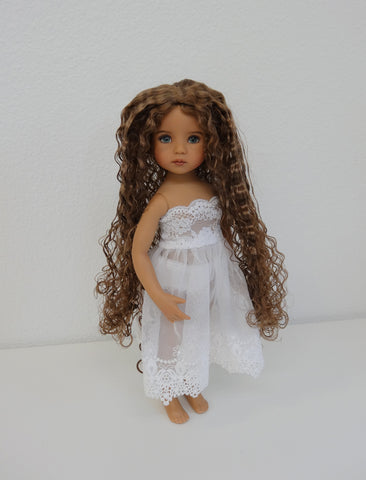 Christine Wig in Ginger Brown - for Little Darling dolls