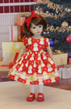 Christmas Angel - dress, tights & shoes for Little Darling Doll or 33cm BJD
