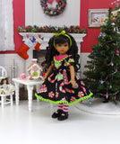 Christmas Candy - dress, tights & shoes for Little Darling Doll or 33cm BJD
