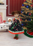 Christmas Candy Canes - dress, tights & shoes for Little Darling Doll or 33cm BJD