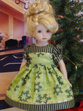 Christmas Carols - dress, tights & shoes for Little Darling Doll or 33cm BJD
