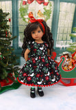 Christmas Dove - dress, tights & shoes for Little Darling Doll or other 33cm BJD