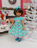 Christmas Sweets - dress, tights & shoes for Little Darling Doll or 33cm BJD