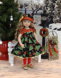 Christmas Tree - dress, hat, tights & shoes for Little Darling Doll or 33cm BJD