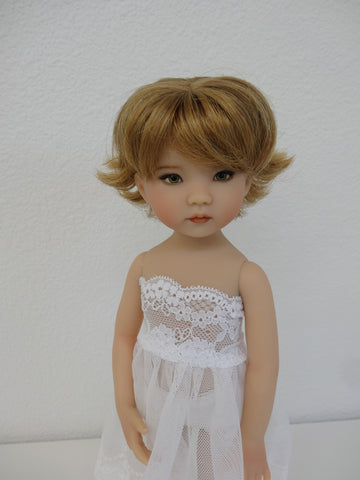Claire wig in Golden Blonde Ash Brown - for Little Darling dolls
