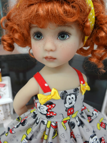 Classic Mickey - dress, socks & shoes for Little Darling Doll or 33cm BJD
