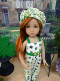 Clover for Luck - romper, jacket, hat & sandals for Little Darling Doll or 33cm BJD