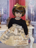 Concert Recital - dress, tights & shoes for Little Darling Doll or 33cm BJD