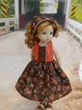 Copper Corsage - dress & shoes for Little Darling Doll
