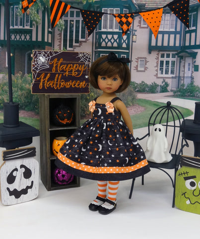 Cosmic Halloween - dress, tights & shoes for Little Darling Doll or 33cm BJD