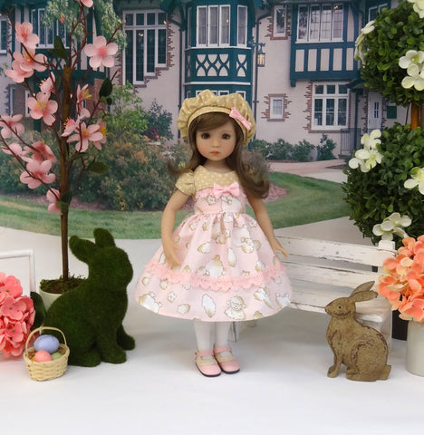 Counting Sheep - dress, hat, tights & shoes for Little Darling Doll or 33cm BJD