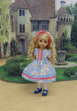 Country Cutie - dress, tights & shoes for Little Darling Doll or 33cm BJD
