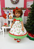 Country Holly - dress, tights & shoes for Little Darling Doll or other 33cm BJD