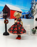 Country Snowflakes - dress, tights & shoes for Little Darling Doll or other 33cm BJD