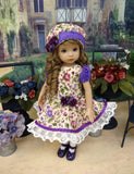 County Clare - dress, hat, tights & shoes for Little Darling Doll or 33cm BJD