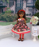 Cowgirl Paisley - dress, tights & shoes for Little Darling Doll or 33cm BJD
