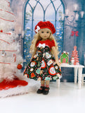 Cup of Cheer - dress, hat, socks & shoes for Little Darling Doll or 33cm BJD