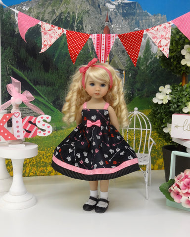 Cupid's Arrow - dress, socks & shoes for Little Darling Doll or 33cm BJD