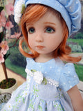 Dainty Daisy - dress, hat, tights & shoes for Little Darling Doll or 33cm BJD