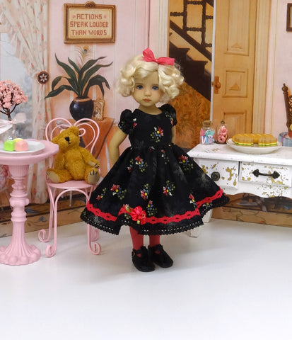 Dainty Darling - dress, tights & shoes for Little Darling Doll or other 33cm BJD