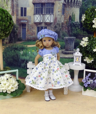 Dainty Wildflowers - dress, hat, socks & shoes for Little Darling Doll or 33cm BJD