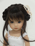 Dani Wig in Dark Brown - for Little Darling dolls