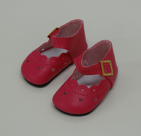 Heart Cut Out Mary Jane Shoes for Little Darling Dolls