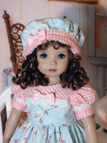 Darling Dragonfly - dress, hat, tights & shoes for Little Darling Doll