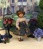 Deep Wood Thistle - dress, hat, tights & shoes for Little Darling Doll or 33cm BJD