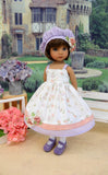 Delicate Bouquet - dress, hat, tights & shoes for Little Darling Doll or 33cm BJD