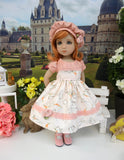 Delicate Bunny - dress, hat, tights & shoes for Little Darling Doll or 33cm BJD