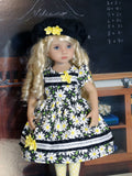 Delightful Daisy - dress, beret, tights & shoes for Little Darling Doll