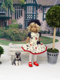 Dog Days - dress, beret, tights & shoes for Little Darling Doll or other 33cm BJD