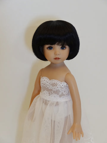 Doris Wig in Black - for Little Darling dolls