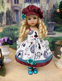 Down the Rabbit Hole - jacket, hat, dress, tights & shoes for Little Darling Doll or 33cm BJD