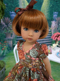 Early Autumn - dress, tights & shoes for Little Darling Doll or 33cm BJD