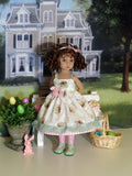 Easter Basket - dress, tights & shoes for Little Darling Doll