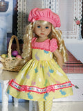 Easter Bunny - dress, hat, tights & shoes for Little Darling Doll
