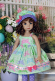 Easter Cutie - dress, hat, tights & shoes for Little Darling Doll
