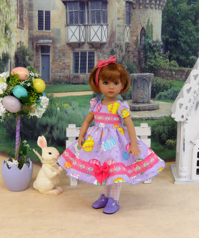 Easter Egg Hunt - dress, tights & shoes for Little Darling Doll