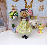 Easter Garden - dress, hat, tights & shoes for Little Darling Doll