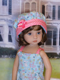 Easter Meadow - romper, hat & sandals for Little Darling Doll