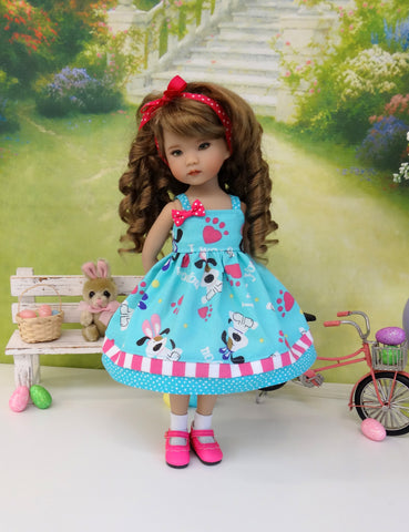 Easter Paws - dress, socks & shoes for Little Darling Doll or 33cm BJD
