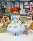 Easter Stroll - dress, tights & shoes for Little Darling Doll or 33cm BJD