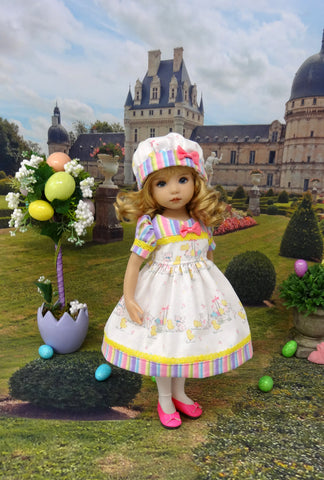 Easter Sweetie - dress, hat, tights & shoes for Little Darling Doll