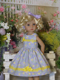 Easter Tulips - dress & shoes for Little Darling Doll