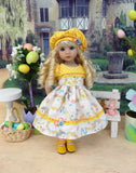 Easter Wishes - dress, hat, tights & shoes for Little Darling Doll or 33cm BJD