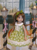 Elegant Reindeer - dress, tights & shoes for Little Darling Doll or 33cm BJD